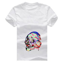 mint plus size shirt NZ - Elephant Mint Green Pink Skull New Fashion Man T-Shirt Cotton O Neck Mens Short Sleeve Mens tshirt Male Tops Tees Wholesale