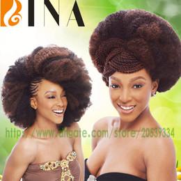 $enCountryForm.capitalKeyWord Canada - bina short afro kinky bulk 24 crochet hair extension synthetic braiding hair for black woman 4colors in stock
