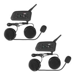 Großhandel 2x BT wasserdichte Motorrad und Roller Bluetooth Headset / Intercom Sport Helm Intercom Bluetooth Sprech Headset 1200m Rider