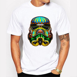Wholesale 2018 Stormtrooper printed t shirt funny men s tee shirts Hipster O neck cool tops