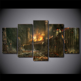 Discount assassin cartoon - HD Printed 5 Piece Canvas Art Witcher 2 Assassins Of Kings Painting Wall Pictures For Living Room Modern free shipping