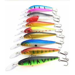 Salted bait online shopping - High Quality Mix Colors cm g Hard Bait Minnow Fishing Lures Bass Fresh Salt Water With Hook