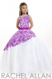China Lovely Purple Blue Lace Tulle Straps Flower Girl Dress Princess Pageant Dresses Girl Party Dresses Custom Made Size 2-14 HF422002 suppliers