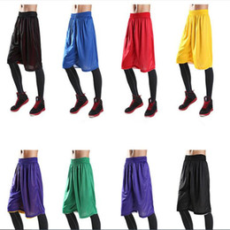 06f8dc8eae6 Multi colors men basketball pants keep fit running sports  pants men s soft shorts  relaxed shorts both sides can wear
