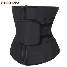 Großhandels-HEXIN Bauch Gürtel High Compression Zipper Plus Size Latex Taille Cincher Korsett Underbust Body Fajas Schweiß Taille Trainer