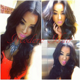 synthetic heat resistant wigs cheap NZ - Cheap Natural Body Wave Natural Black Heat Resistant Synthetic Lace Front Wigs With Baby Hair Free Shipping Super Wave Swiss Lace Hair
