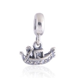 China Authentic 925 Sterling Silver Beads Gondola Dangle Charm Fits European Pandora Style Jewelry Bracelets & Necklace 791143CZ suppliers