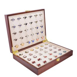 $enCountryForm.capitalKeyWord Canada - Luxury Cufflinks Ring Gift Box Storage Case Mens Jewelry Display Gift Box 30pairs Capacity High Quality Painted Wooden Boxes