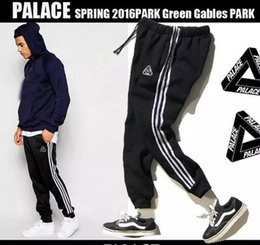 Pantalons De Jogging En Gros Hommes Pas Cher-Wholesale-Palace Pantalons Hommes Harem Beam Sweatpant Pant Men Full Length Hip Hop Street Palace Skateboards Pantalons Joggers Marque Sweatpants