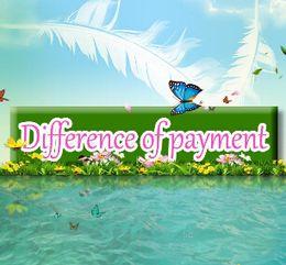 Venta al por mayor de Diferencia de pago Envío Gratis