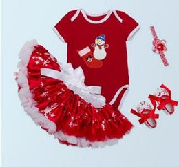Old Fashioned Baby Clothes Wholesale Canada - 2017 fashion children's clothing baby jersey 0-2 year old female baby snowflake Peng Peng skirt four sets