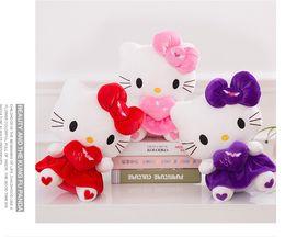 $enCountryForm.capitalKeyWord Canada - New hello KT cat plush toy doll birthday gift sitting height 25cm hello kitty plush toys hello kitty toys doll for childre