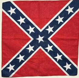 Опт Флаг Конфедерации повстанцев банданы делать-тряпки обертки Гражданской войны флаг 55 * 55 см бандана оголовье для взрослых банданы Национальный Полиэстер Хлопок