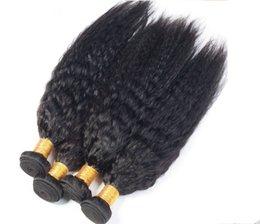 $enCountryForm.capitalKeyWord Canada - 100g 3 bundles lots Brazilian Kinky Straight Hair Weave Yaki Human Hair Extensions 7A Unprocessed Virgin indian Yaki Straight Hair
