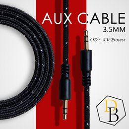 audio cable for cell phone 2019 - AUX Cable Male to Male Stereo Line 1m for Samsung Speaker Auxiliary Car Audio Connoctor Universal for Cell Phone discoun