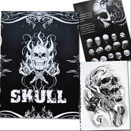 Dessins De Dessins Pas Cher-Vente en gros-Skull Skull Tattoo Books Design A4 Sketch Flash Book Tattoo Art Supplies 76 Pages Hot Selling