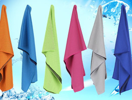 Types Sports Canada - 2017 VIP DHL cooling towel 6 types color 31x100cm double color sports exercise gym summer cooling towel wholesale