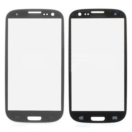 China For Galaxy S3 Galaxy iii i9305 I9300 I535 I747 L710 T999 glass lens front glass Grey -not LCD or digitizer 10PCS LOT suppliers
