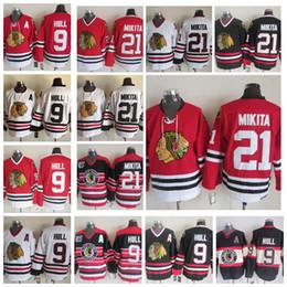 ... Chicago Blackhawks 9 Bobby Hull 21 Stan Mikita Jerseys Ice Hockey Men  Jersey Vintage Retro Throwback ... ab1150ef7