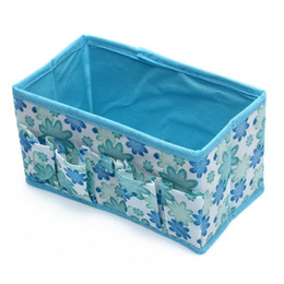 Barato Reboques Grossistas Para Maquiagem-Atacado- TEXU Folding Multifuncional Make Up Cosmetic Storage Box Container Bag - Azul