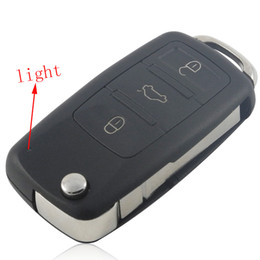 Button Remote Key Shell Canada - Remote Key Shell (3+1) Button For VW Touareg 5pcs lot