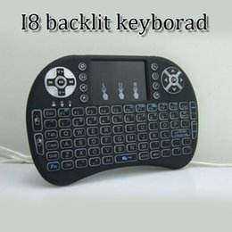 ccd357272bd rii mini wireless backlight air mouse 2.4Ghz bluetooth remote controll  keyboard for smart TV TV BOX with touchpad DHL free shipping
