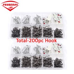 $enCountryForm.capitalKeyWord NZ - 200Pcs fishing tackle Mixed Size 1 0-2 0-3 0-2 4 6 8 10 Fishing Hook High Qulity Brown Color Jig Big Treble Hooks
