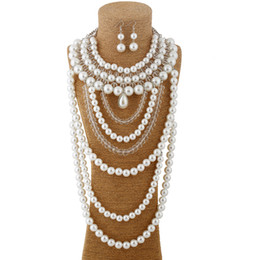 $enCountryForm.capitalKeyWord UK - 2016 Sale Foreign Trade Hot Selling Necklace Europe And The United States Fashion Luxury Personality Exaggerated Pearl Crystal Evening Dress
