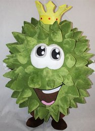 Barato Adultos Fruto Trajes Halloween-New Fruit Durian Mascot Costume Fancy Birthday Party Dress Halloween Carnavais Trajes com alta qualidade para adulto