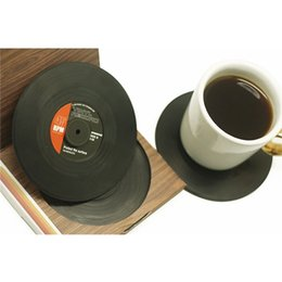 $enCountryForm.capitalKeyWord Canada - Wholesale-6 Pcs  set Home Table Cup Mat Creative Decor Coffee Drink Placemat for table Spinning Retro Vinyl CD Record Drinks Coasters
