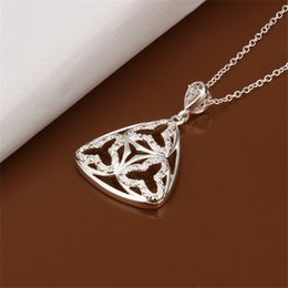 Chain Hollow Snake Silver NZ - brand new Hollow sterling silver plate Necklace fit women,wedding 925 silver pendant Necklace with chains EN450