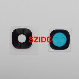 Nueva cubierta trasera de la lente de cristal de la cámara trasera + adhesivo adhesivo para Samsung Galaxy S7 S7 Edge
