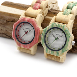 Dial Box Canada - BOBO BIRD Bling Scale Dial Women Bamboo Watches Top Brand Luxury Designer for Ladies in Wooden Box