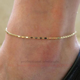 Hot girls feet cHain online shopping - Hottest Style Fashion Jewelry Christmas Gift Colors Gold Silver Alloy Anklets Foot Chain For Woman Girls