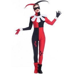 $enCountryForm.capitalKeyWord UK - 2017 New Arrival Harley Quinn Costumes By DHL Cartoon Circus Clown Jumpsuit Cosplay Halloween Theme Party Clothing Hot Selling
