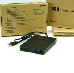 Wholesale 3 quot External Floppy Drive Disk Portable MB FDD USB Floppy Drive CD Emulators for Laptop Computer Plug and Play