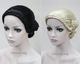 $enCountryForm.capitalKeyWord Canada - free shipping charming beautiful new Best Hot sell Retro Fancy Dress classical braid women elderly Ladies wig Hivision