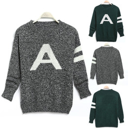 $enCountryForm.capitalKeyWord Canada - 2016 fashion new arrival women clothing Stylish Ladies Casual O-Neck Long Sleeve Pullover Letter Print Knit Sweater Female top