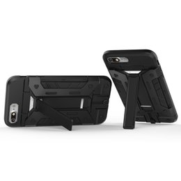 $enCountryForm.capitalKeyWord UK - Armor Slide Card Slot Phone Cases For iPhone X 5 6 7 Havy Duty Kickstand Super Cool Cellphone Back Cover For Iphone Series