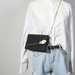 Cross Lace Bag Canada - New fashion personality A single shoulder bag chain women's single shoulder oblique cross hand holding a small bag Harajuku wind Satchel