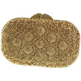 8f0dfc42969d Wholesale-Mini Size Silver Box Clutch Bag Crystals Embellishment Gold  Evening Bags Sale with Shoulder Chain Clutch Purse for Bride Wedding  wedding purses ...