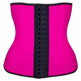 3c1e83e38bc Latex Waist Trainer Corset Plus Size Steel Bone Workout Waist Women Slim  Body Shaper Girdles Corsets XS-6XL