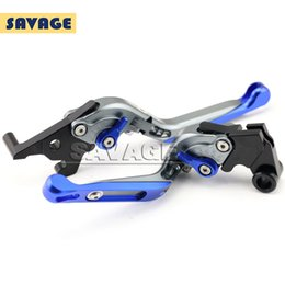 Folding Extendable Brake Clutch Levers UK - For YAMAHA YZF-R25 YZF-R3 YZF R25 R3 Motorcycle Accessories CNC Adjuster Folding Extendable Brake Clutch Levers Blue+Titanium