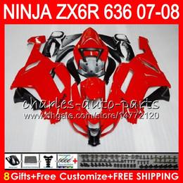 Red black kawasaki zx6R online shopping - Bodywork For KAWASAKI NINJA Gloss red ZX636 ZX6R CC ZX600 C NO12 ZX ZX ZX R ZX ZX R Fairing kit