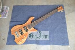 $enCountryForm.capitalKeyWord NZ - free shipping new Big John 6 strings fretless electric bass guitar F-3312
