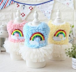 $enCountryForm.capitalKeyWord Canada - FAFA Pet Products Supplies Dog Clothes Wear Apparel Rainbow Coat Lace Dress T-shirt Fashion New Arrival 17ZF130