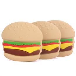 $enCountryForm.capitalKeyWord Canada - New Baby Hamburger Teether Food Grade BPA free Soft Silicone Teething Toys Nursing Tool 10PCS  lot free shipping