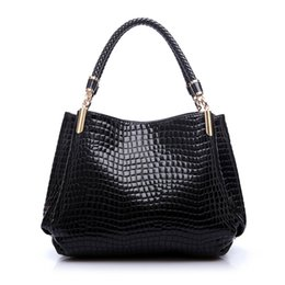 Sling Tote Bags Wholesale Canada - Wholesale- Luxury Women Designer Handbag High Quality Brand Crocodile Pattern Leather Lady Portable Tote Bag Sling Satchel Sac A Main Femme