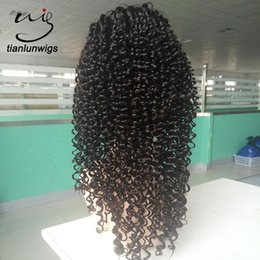 Human Hair Wigs 28 Inches NZ - xintianlun 20 inch lace wig vendors supply 100% human hair wigs natural color full lace wig women curly hair wig