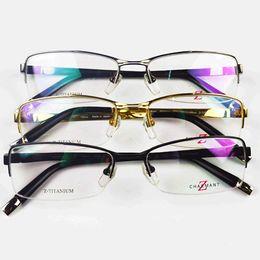 8cc54bef32 Brand Glasses-2017 New Brand Designer Eyeglasses ZT11741 Charmant Optical  Frames Z Titanium Men Rimless Eyewear Frame Myopia size 54-17-140